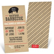 Backyard BBQ Party Invitations