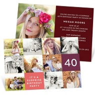 Patchwork Of Photos Party Invitations