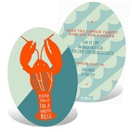 Lobster Platter Party Invitations