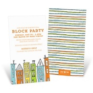 Cityscape Party Invitations