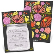 Fresh Picked Flowers Party Invitations