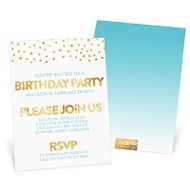 Golden Birthday -- Party Invitations