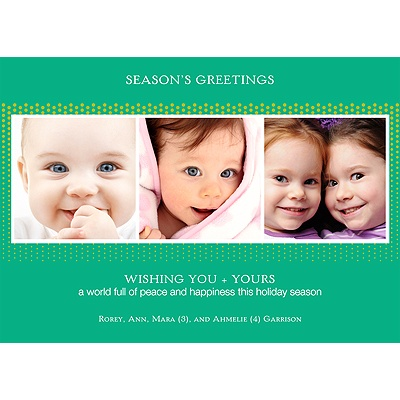 Green Holiday -- Recycled Holiday Photo Cards