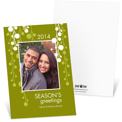 Celebrating in Green -- Recycled Photo Holiday Cards