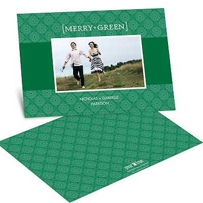 Merry and Green -- Recycled Photo Holiday Cards
