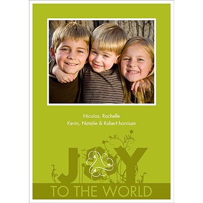 Sprouting Joy -- Recycled Photo Holiday Cards