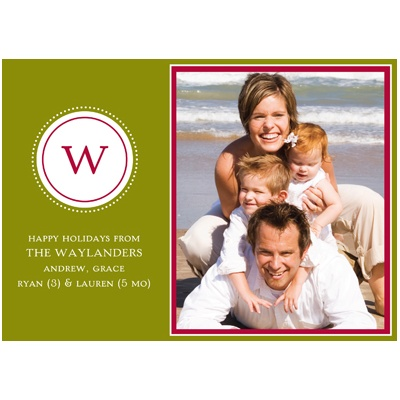 Monogrammed Photo -- Holiday Photo Cards