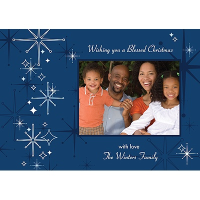 Christmas Twilight -- Blue Holiday Photo Card