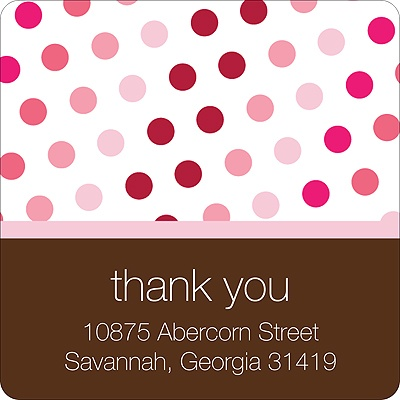 Polka-Dot Party -- Pink Address Label