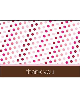 Polka-Dot Party -- Sweet Pink Thank You Card