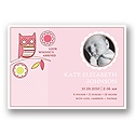 Look Whooo's Arrived -- Pink Photo Birth Announcement