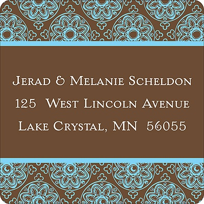Delicate Patterns -- Blue Address Labels