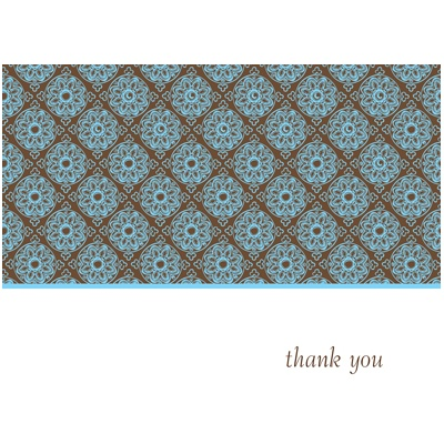 Delicate Patterns -- Blue Thank You Cards