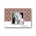 Delicate Patterns -- Pink Photo Thank You Cards