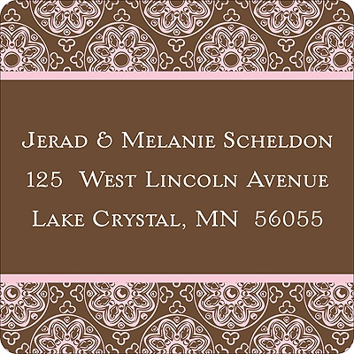Delicate Patterns -- Pink Address Labels