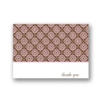 Delicate Patterns -- Pink Thank You Cards
