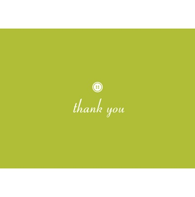 Cute as Button -- Olive Thank You Card