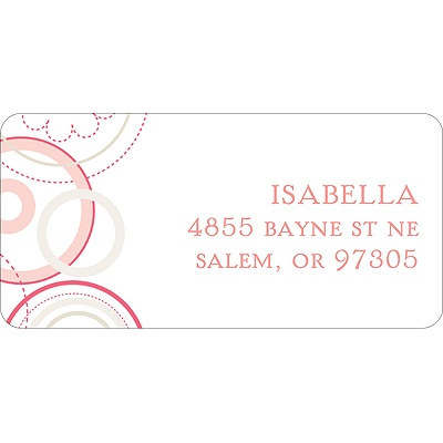 Soft Floral -- Pink Address Label
