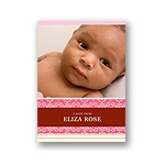Pretty Stripes -- Pink Photo Note Card