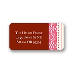 Pretty Stripes -- Pink Address Label