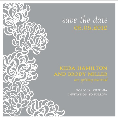 Blossoms -- Save the Date Cards -- Choose from 5 color options
