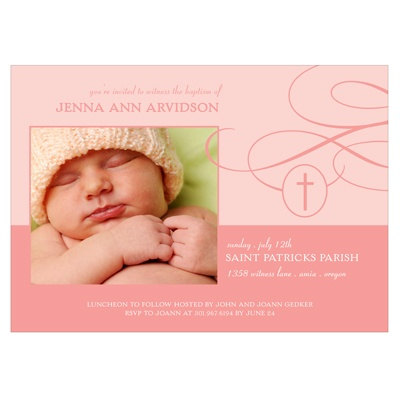 Connection Girl Baptism Invitations