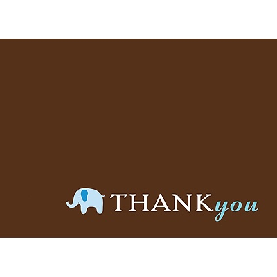 Baby Blue Mobile Baby Shower Thank You Cards