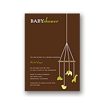 Baby Mobile -- Mocha & Olive Baby Shower Invitations