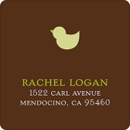 Baby Mobile - Mocha & Olive Address Label