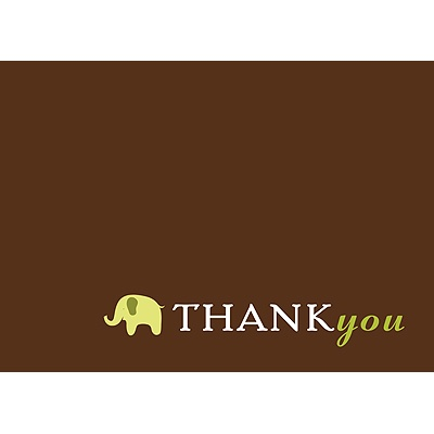Baby Green Mobile Baby Shower Thank You Cards