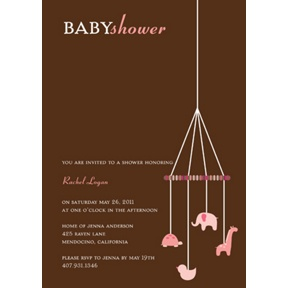 Baby Pink Mobile -- Baby Shower Invitations