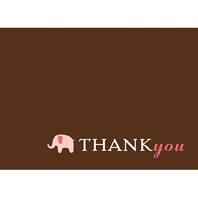 Baby Pink Mobile Baby Shower Thank You Cards