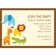 Safari Friends Birthday Party Invitation