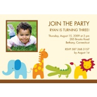 Safari Friends Photo Birthday Party Invitation