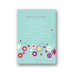 Springtime Buzz -- Aqua Birthday Party Invitation