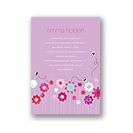 Springtime Buzz -- Violet Birthday Party Invitation