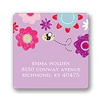 Springtime Buzz -- Violet Address Label