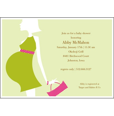 Love Shows -- Olive Baby Shower Invitation