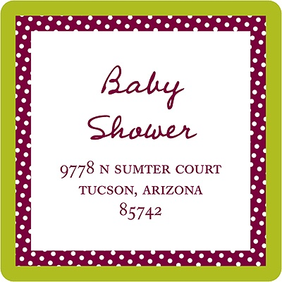 Love Shows Baby Address Labels