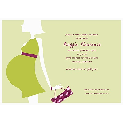 Baby Bump Baby Shower Invitations