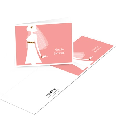 Chic Shower Bridal Shower Thank You Cards