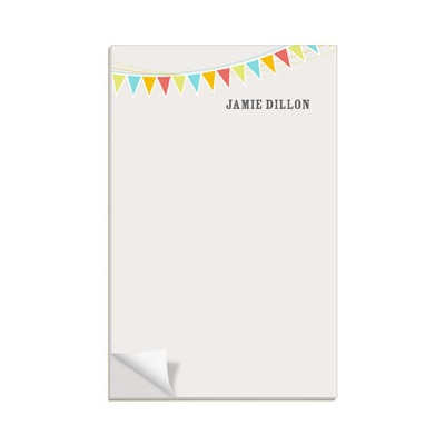 Tan Banner Year Custom Notepads