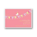 Banner Year -- Pink Birthday Invitation