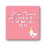 Banner Year -- Pink Address Label