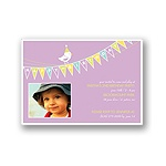 Banner Year -- Violet Photo Birthday Invitation