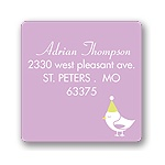 Banner Year -- Violet Address Label
