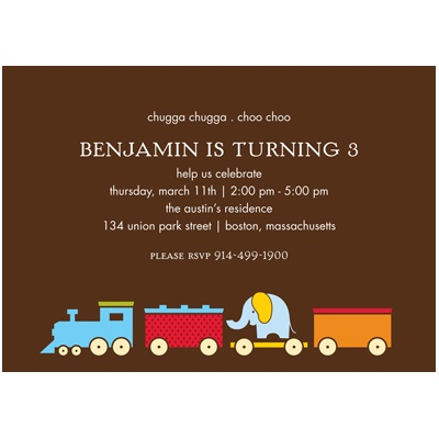 Choo choo! -- Birthday Invitation