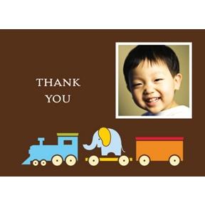 Choo Choo! -- Photo Thank You Card