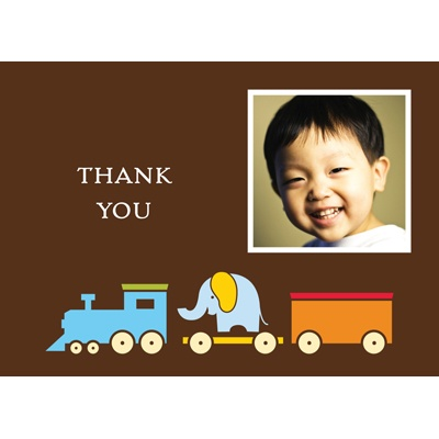 Choo Choo! Photo Thank You Card