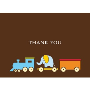 Choo choo! -- Thank You Card